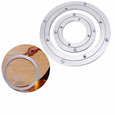 "5-24""Aluminium Rotating Bearing Turntable Lazy Susan Round Swivel Plate New KU"