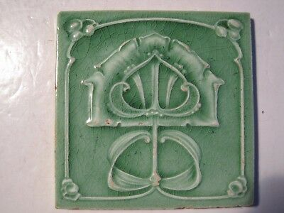 ANTIQUE HENRY RICHARDS MOULDED ART NOUVEAU WALL TILE c1902-09