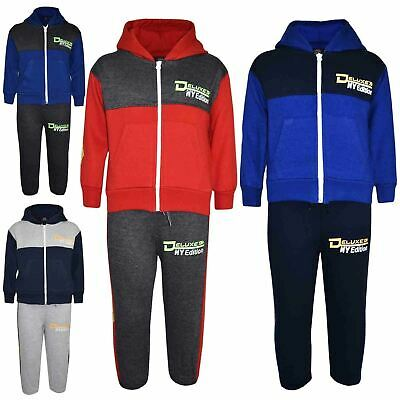 Kids Boys Toddler Tracksuit Deluxe NY Edition  Print Hoodie & Bottom Jog Suit