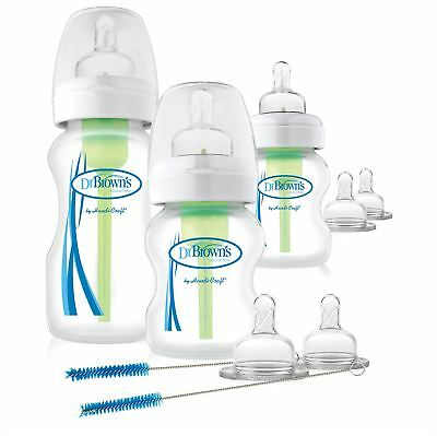 Dr Browns Options Wide Neck Baby Deluxe Starter Kit inc Bottles, Teats & Brushes
