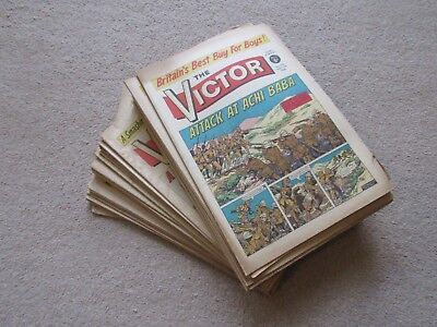 VICTOR COMICS X 42 FROM 1966 - Good/Fair condition/ WARLORD-Job Lot