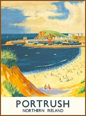 Portrush North Ireland United Kingdom Vintage Travel Advertisement Art Poster