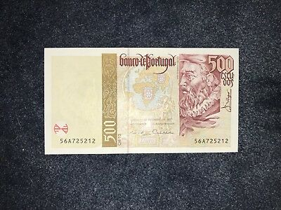 PORTUGAL 🇵🇹 🇵🇹 500 Escudos Banknote World Money 1997 - UNC Foreign Currency