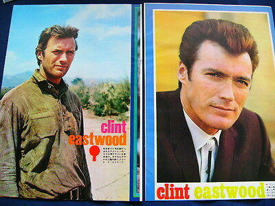 1970s- Clint Eastwood DIRTY HARRY 74 Japan VINTAGE Clippings & Poster VERY RARE