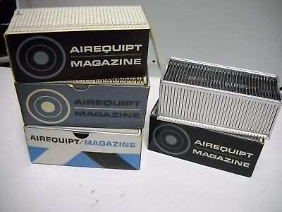 Vintage AIREQUIPT Slide Projector Magazines; Lot of 4
