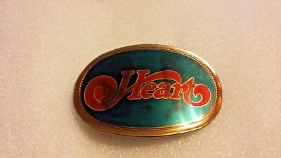 Vintage HEART the ROCK BAND  Belt Buckle 1977 Pacifica