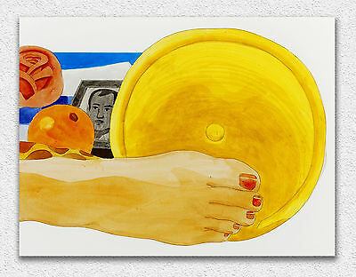 Tom Wesselmann Drawing for bedroom 38x50cm STAMPA TELA CANVAS PRINT TOILE LIENZO