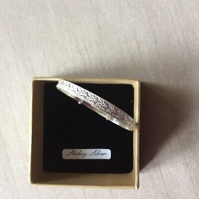 Sterling Silver Large Baby Expanding Bangle