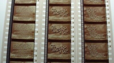 WIZARD OF OZ 3 35 mm STRIPS 5  FILM CELLS PER STRIP JUDY GARLAND FREE SHIPPING