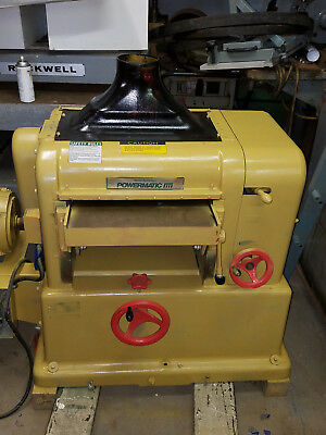 "18"" Powermatic USA planer mdl 180 with New Byrd Cutterhead & bearings 7-1/2 hp"