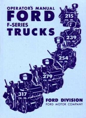 1949 Ford Truck Owners Manual User Guide Reference Operator Book Fuses Fluids OE