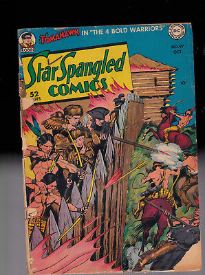 Star Spangled Comics 97 Robin the Boy Wonder Tomahawk   Rough spine