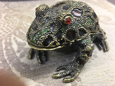 Frog Jeweled Trinket Box