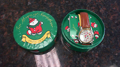 Collectible Vintage Ten Years of Santabear by Fossil 1985-1994 Watch NEW