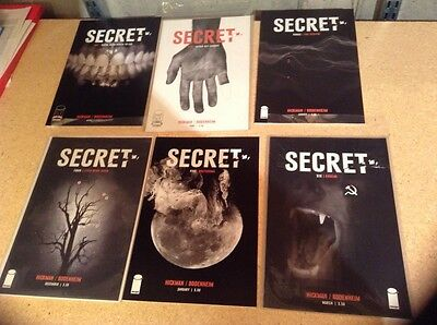 SECRET 1 2 3 4 5 6 NM Complete Run Lot Set Image COMBINED SHIPPING