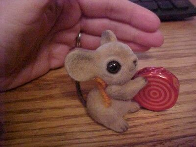 josef originals flocked christmas mice mouse figurine with lollipop candy