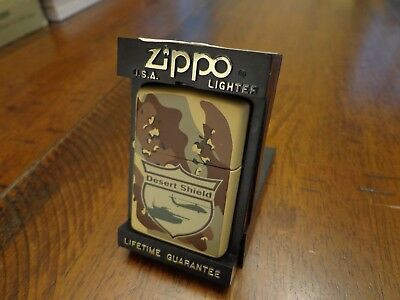 Desert Shield Camo Original Issue Zippo Lighter Mint In Box