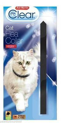 Bob Martin Clear Cat Flea Collar  Black Velvet - Free p&p
