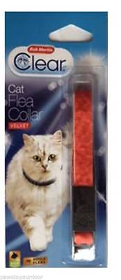 Bob Martin Clear Cat Flea Collar Red Velvet - Free p&p