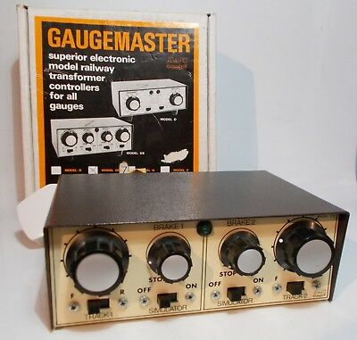 Gaugemaster Z gauge Two Train Power Control with Brake Simulators (DSZ)