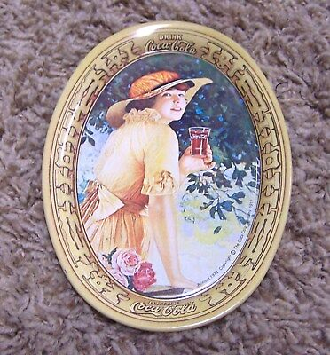Cute Vintage Oval 1973 Coca-Cola MINI METAL TRAY Repro From 1917 VGUC!