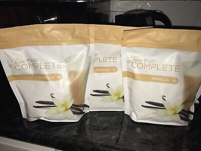 Juice Plus Complete Vanilla x3. New Packaging Sealed 525g