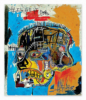 Jean-Michel Basquiat  Untitled  100x85 cm STAMPA TELA CANVAS PRINT TOILE LIENZO