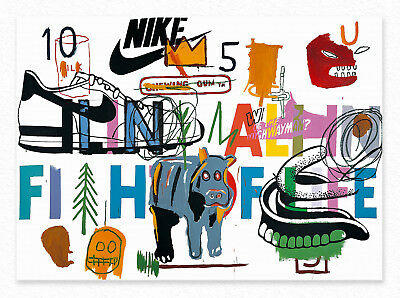 Jean-Michel Basquiat  Ailing Ali in Fight for Life 72x100cm STAMPA TELA CANVAS
