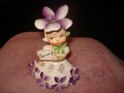 1956 Napco original February Flower of the Month Vintage Figurine