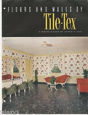 1948 TILE-TEX Vinyl ASBESTOS Tile Flooring Floors Walls Home Industr VTG Catalog