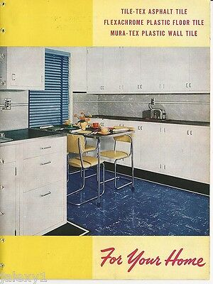 1947 TILE-TEX Vinyl Flooring for Floors Walls Made with ASBESTOS Vintage Catalog