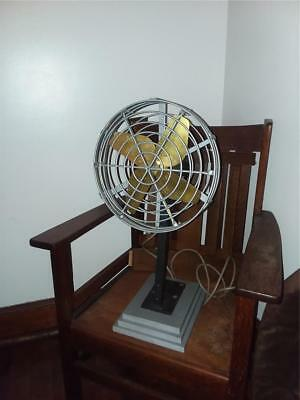VINTAGE GE  INDUSTRIAL FAN..BRASS BLADES,CAST IRON fram and cage...Steampunk