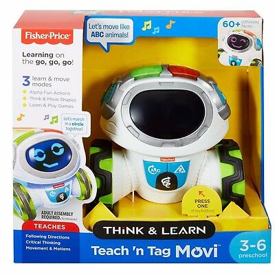 Fisher-Price Think & Learn Teach 'n Tag Movi Toy Robot Best Christmas Gift