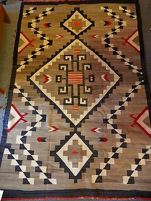 "Orig.antique C1915 Jb Moore Navajo Crystal Rug Blanket,51"" X 77"",one-Owner"