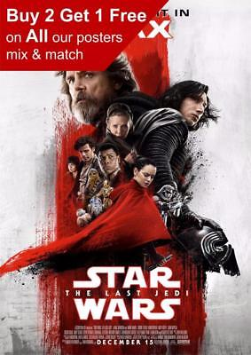 Star Wars The Last Jedi Imax Movie Poster A5 A4 A3 A2 A1