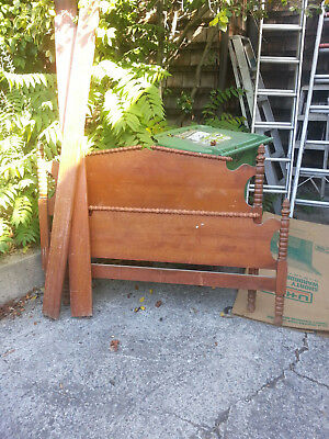Antique Maple Double Bed Frame