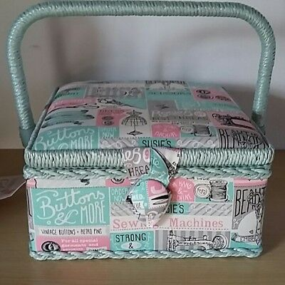 New-Hobby Gift-Small-Square-Sewing Box-Patchwork Notions  Design