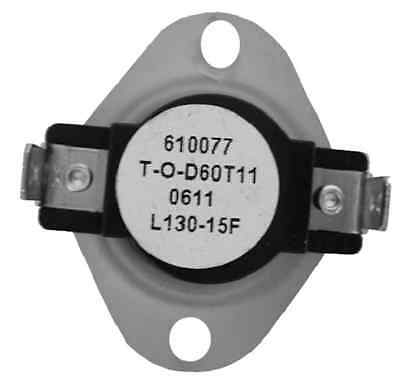 Supco L130 SPST Limit Control Thermostat Snap Disc L130-15F