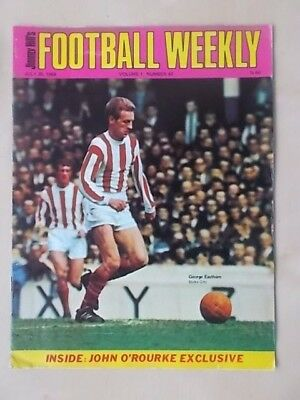 JIMMY HILLS FOOTBALL WEEKLY MAGAZINE JULY 26th 1968 GEORGE EASTHAM OF STOKE