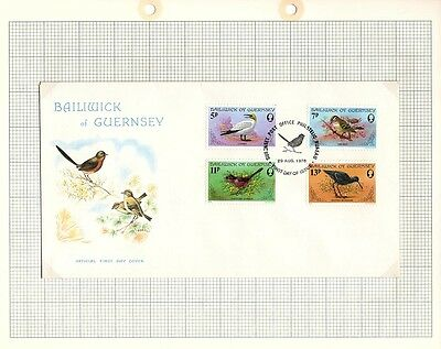 1978 Guernsey Stamps -  FDC and Mint set of 4, Birds - SG169 -172