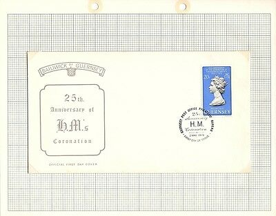 1978 Guernsey Stamps - 2 x FDC and Mint set of 2, Coronation/Visit - SG167 -168