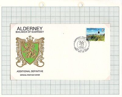 1989 Alderney Stamps - FDC & Mint set of 1, New Definitive Issue SGA12a