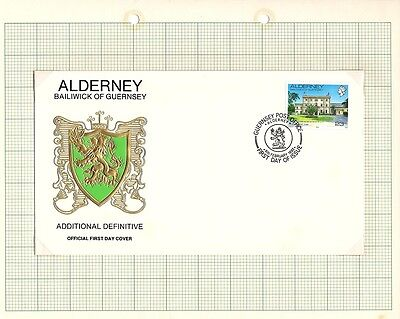 1992 Alderney Stamps - FDC & Mint set of 1, New Definitive Issue SGA12c