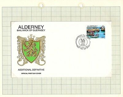 1991 Alderney Stamps - FDC & Mint set of 1, New Definitive Issue SGA12b