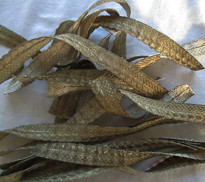 A Lot of Silver Metallic Trim All Matching Dark Patina Rope Design  French