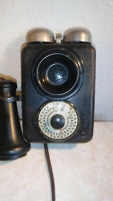 Antique 1900's Wall Select-a-Phone Intercom with Bullnose Transmitter & Receiver