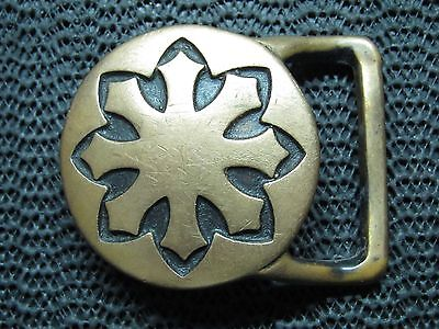 EARLY TECH ETHER LARGE FLAKE BELT BUCKLE! VINTAGE! VERY RARE! 1970s! HIPPIE!
