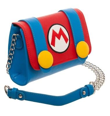 Nintendo Super Mario Bros. Brothers Handbag Womens Cross Body Purse Faux Leather