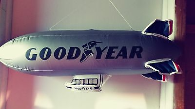 2 Goodyear Inflatable Blimps Silver NIP