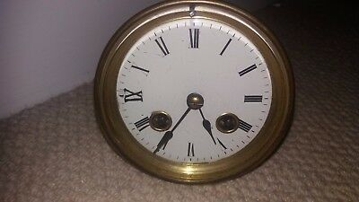 """""""s.marti"""" French Clock Movement.springs Good & Ticking Away.spares/repairs Only."""
